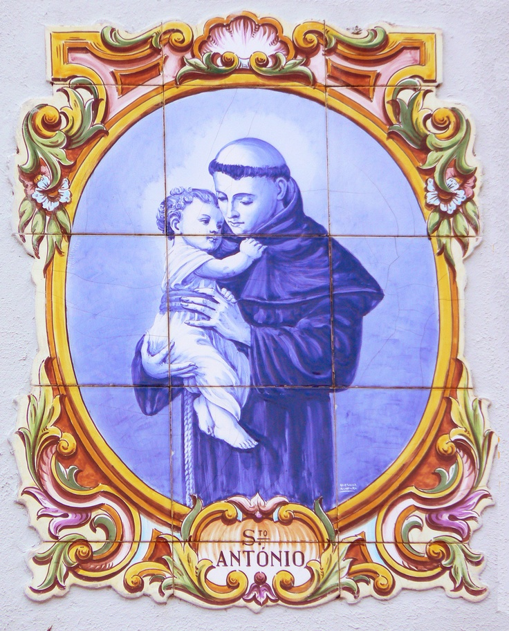 Portuguese hand painted tiles.  St. Anthony is special to me