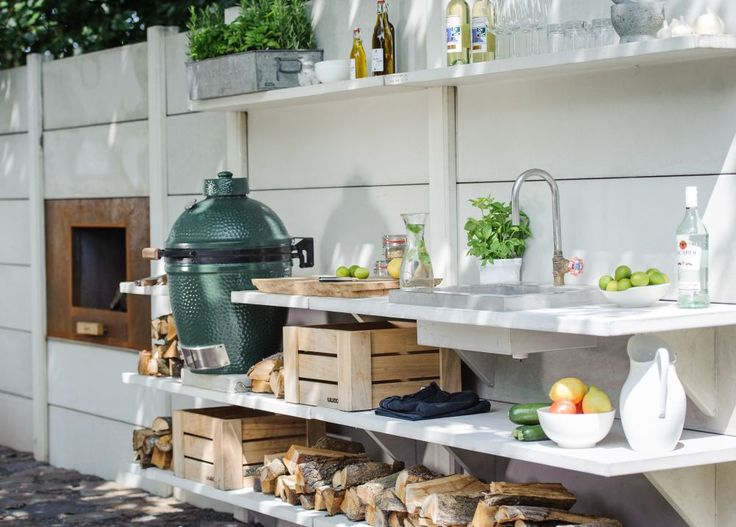 17 best images about buitenkeukens outdoor kitchen for Outdoor kitchen designs using green eggs