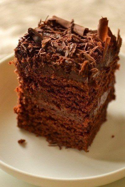 Супер влажный шоколадный пирог (без яиц)