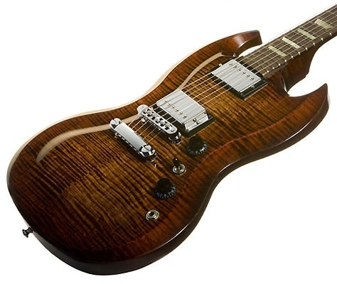 Pin 9 #bareMinerals #READYtowin - 2009 Gibson SG Carved Top Limited Run Autumn Burst