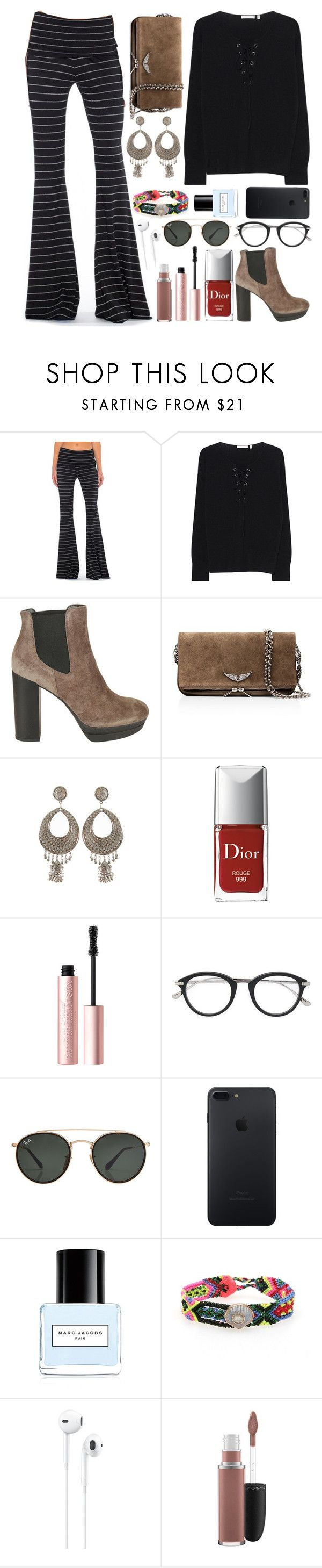 """""""1. mad"""" by datumacias ❤ liked on Polyvore featuring Saint Grace, The Mercer N.Y., Hogan, Zadig & Voltaire, Christian Dior, Too Faced Cosmetics, Tom Ford, Ray-Ban, Marc Jacobs and Dezso by Sara Beltrán"""