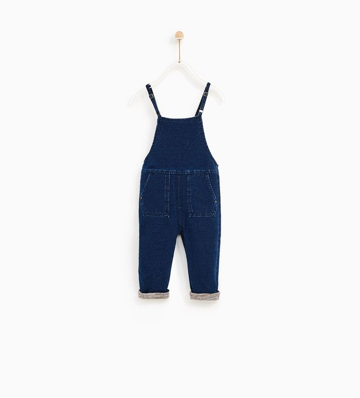 Image 1 of LINED DENIM JUMPSUIT from Zara
