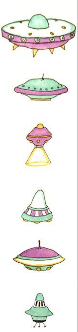 Naves espaciales ilustradas. Ese dia estuve más extraterrestre que de normal