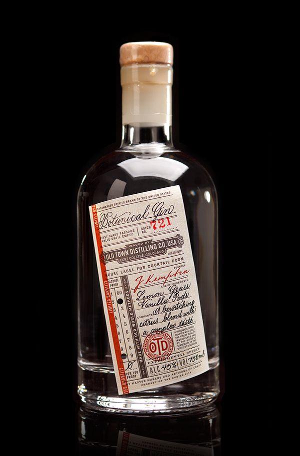 #gin #bottle #packaging #label #typography #vintage –– Packaging Design