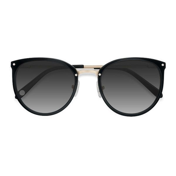 Women's Crush - Black round metal - 17747 Rx Sunglasses ($55) ❤ liked on Polyvore featuring accessories, eyewear, sunglasses, gradient sunglasses, rounded sunglasses, round glasses, round sunnies and round eyewear