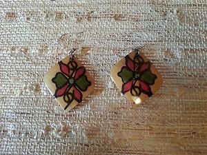Ethnic Peruvian Wood Earrings | eBay
