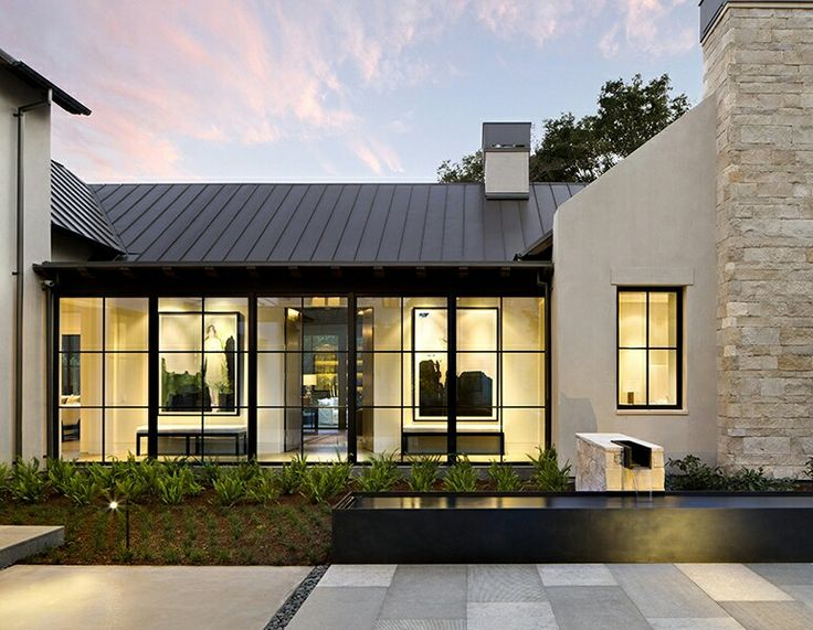 25 best ideas about contemporary farmhouse exterior on for Home plans with photos of inside and outside
