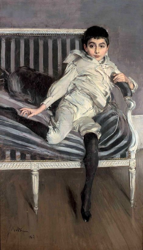 Giovanni Boldini, Ritratto del piccolo Subercaseaux on ArtStack…