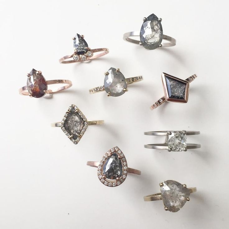 rose cut diamond engagement rings  ::  Alexis Russell
