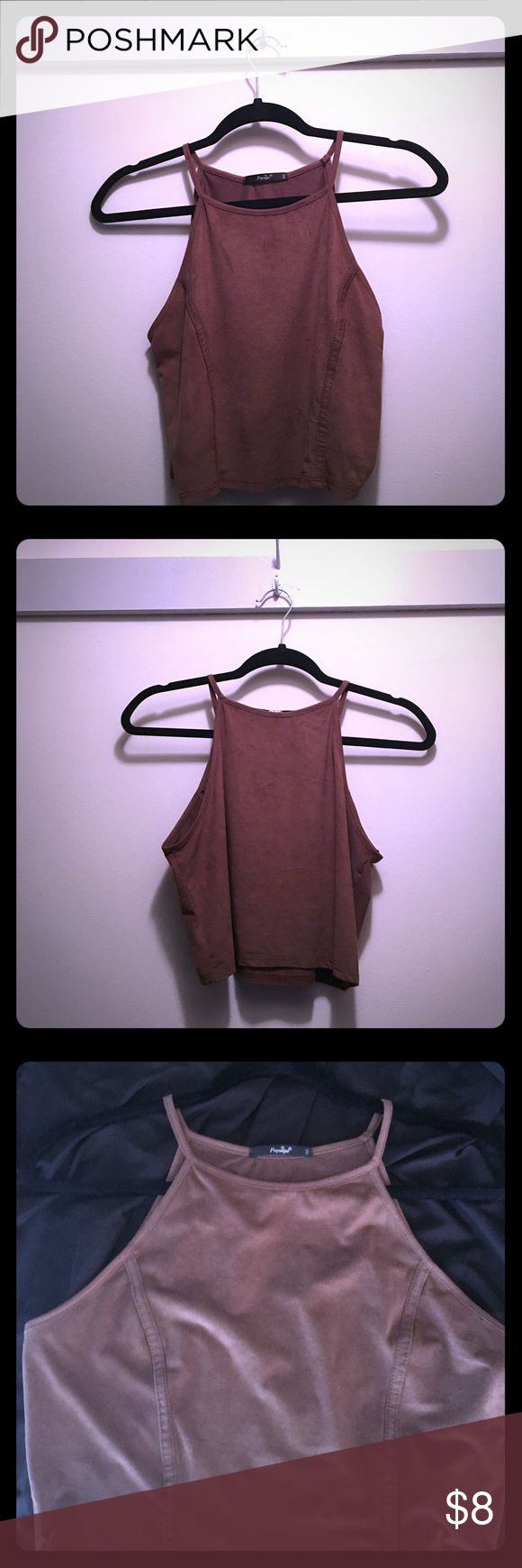 Cute Camel Colored Top Camel crop top! Cute for any occasion! Only worn once! Papaya Tops Crop Tops