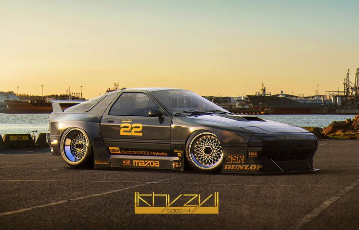 A collection of stanced, race, machinery.