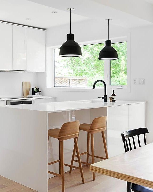 Scandi Minimalist Style Kitchen in an All White Home