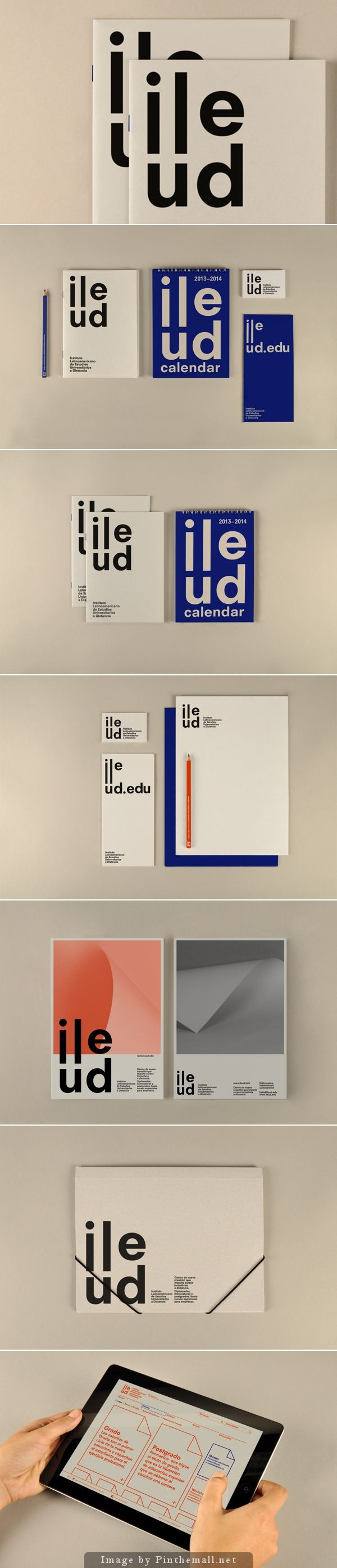 ILEUD by P.A.R, via Behance #brand #identity #stationery