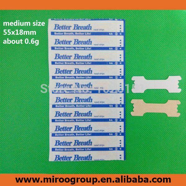Бесплатная доставка в сша 500 шт./лот ( средний размер 55 x 18 мм ) лучше дышать правой анти-храп носовые полоски, Лучше дыхание носовые полоски