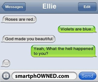 Roses are red. - - Autocorrect Fails and Funny Text Messages - SmartphOWNED