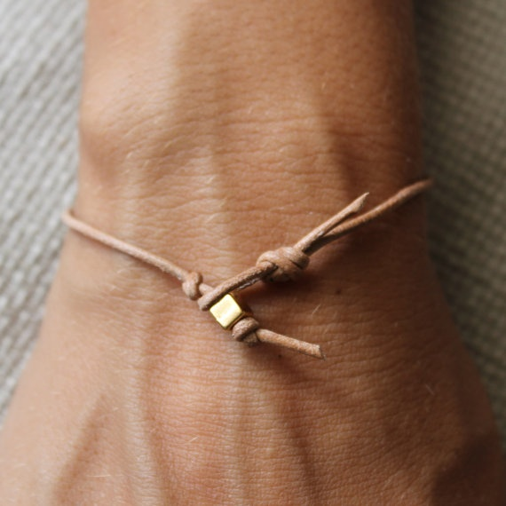 Simple Bracelet: Gift, Craft, Gold Leather, Simple Bracelets, Simple Gold, Diy, Leather Bracelets