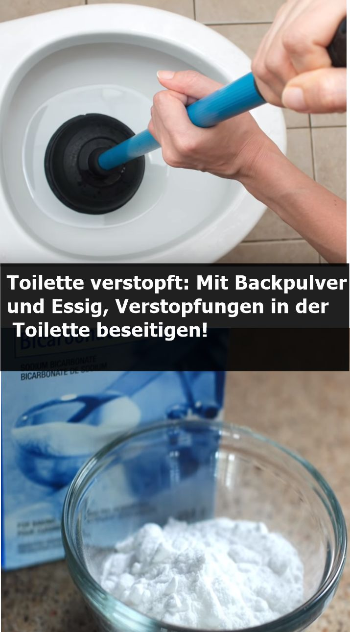 Toilette verstopft: Mit Backpulver und Essig, Verstopfungen in der Toilette bese…