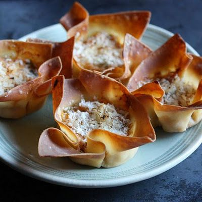 Like crab rangoon wontons? You'll love this and so will your guests. These are prettier to present, easier to make, and a heck of a lot healthier than the kind you get at your local Chinese restaurant - these appetizer wontons are baked in the oven rather than fried. Make plenty as these will fly off your buffet and finger food table.
