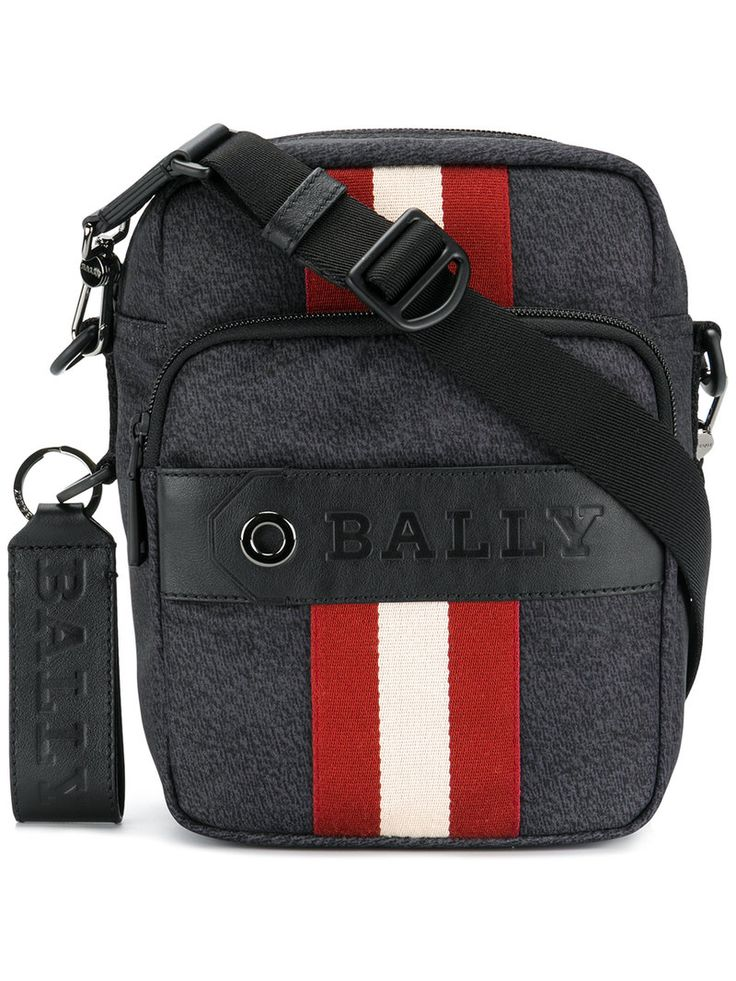 BALLY STRIPED SHOULDER BAG. #bally #bags #shoulder bags #leather #nylon #