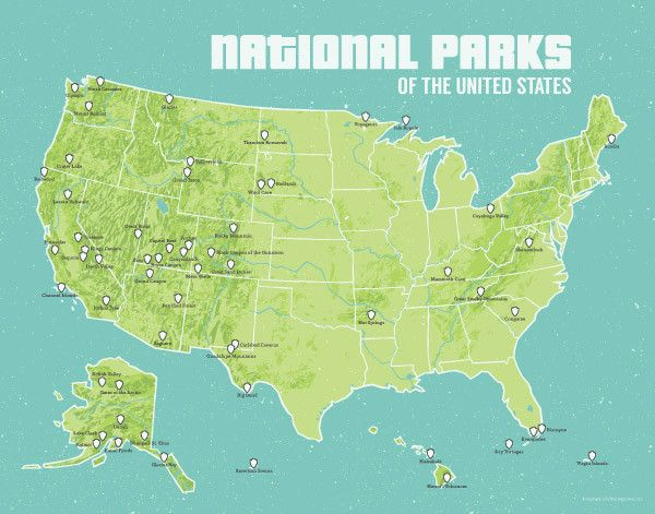 Best Us National Parks Map Ideas On Pinterest Fun Facts - Us road map with national parks