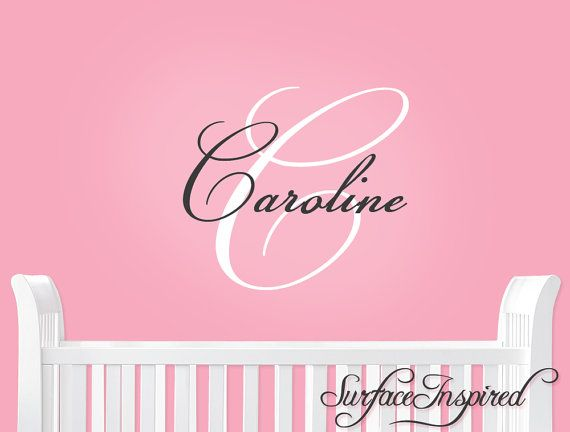 Hey, I found this really awesome Etsy listing at https://www.etsy.com/listing/201856082/nursery-wall-decals-elegant-name-wall