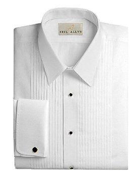 Neil Allyn Mens Tuxedo Shirt – 100% Cotton Laydown Collar