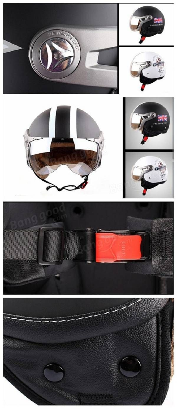 Motorcycle Air Force Half Face Helmet Jet Pilot For Harley BEON B-100