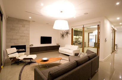 Living area of our Lightsview Terrace Display Home, open by appointment.