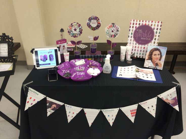Jamberry nails Vendor event booth! Homemade banner and nail art wheel flowers!  www.frost.jamberrynails.net