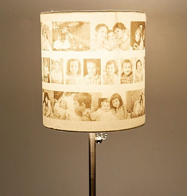 Transfer Photo Memories Into A Precious Lamp Shade