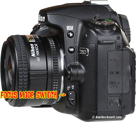 Nikon D80 Focus Mode Switch | Snap it {Camera} | Nikon d80 ...