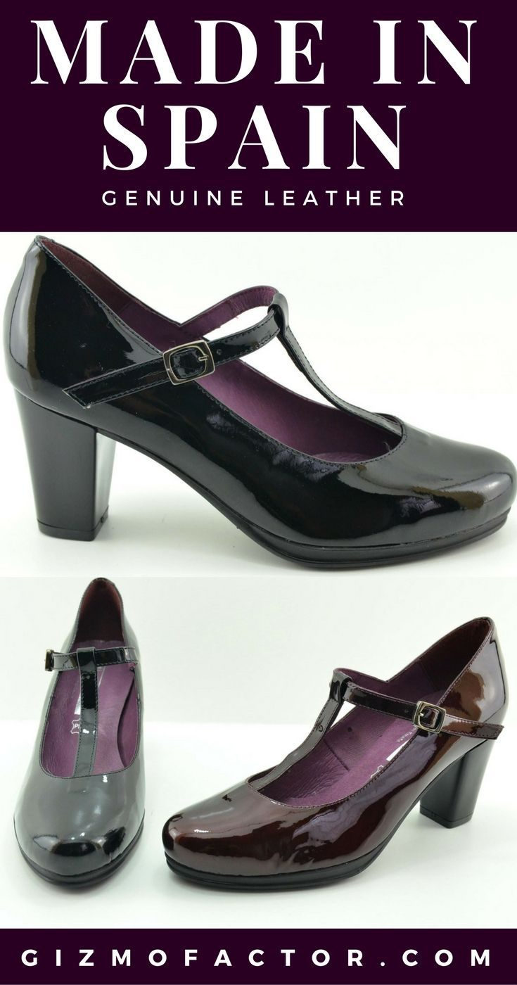 Digo-patent leather t strap pump-made in spain