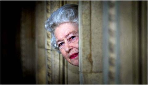 the queen skulking around the castleThe Queen