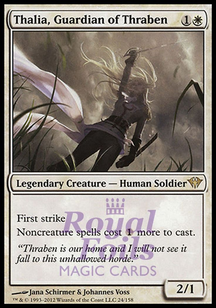 **1x FOIL Thalia Guardian of Thraben** DKA MTG Dark Ascension Rare MINT white