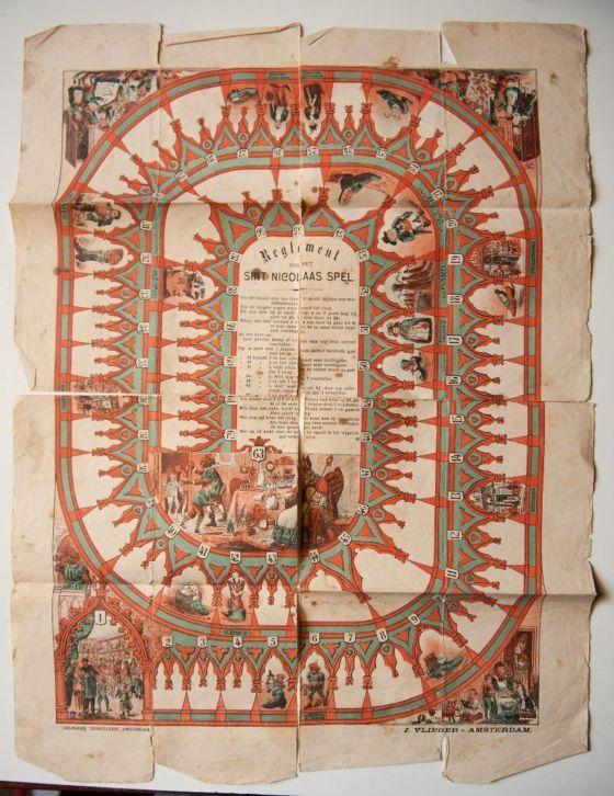 Antiek Sinterklaasspel uit 1890 van Senefelder