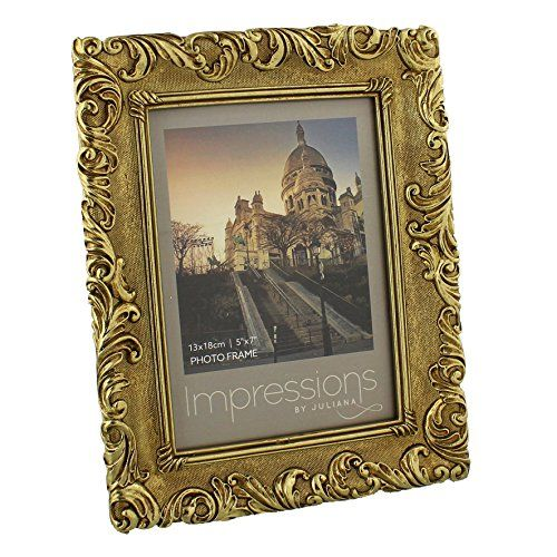 """Antique Gold Vintage Ornate Shabby Chic Picture Photo Frame 5"""" X 7"""" ukgiftstoreonline http://www.amazon.co.uk/dp/B00UUFDUV6/ref=cm_sw_r_pi_dp_mP1Ywb08QMQBW"""