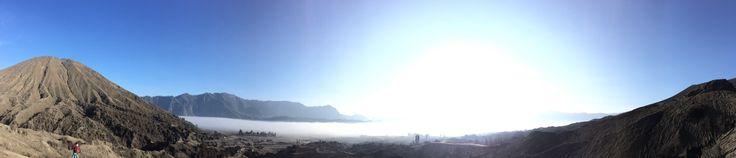 Morning view at bromo mountain