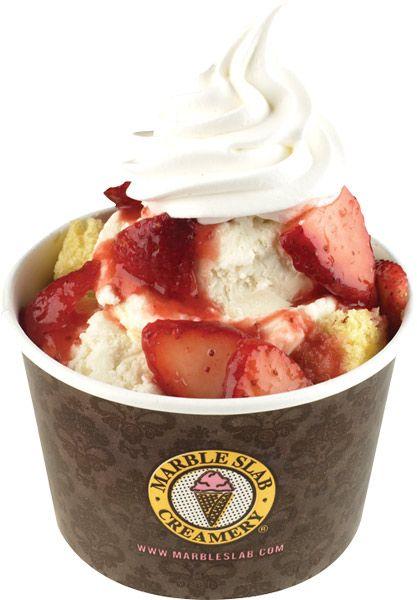 Marble Slab Creamery - strawberry shortcake