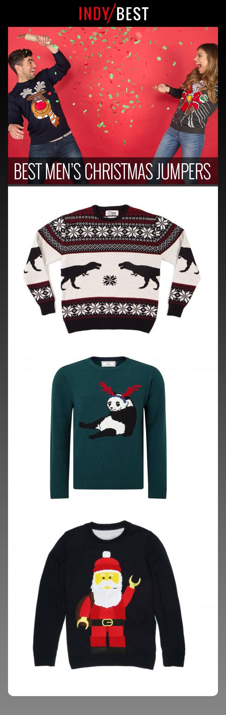 Our pick of the best Christmas jumpers for men: http://ind.pn/2A6N96o