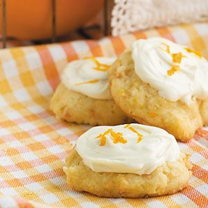 Iced Carrot Cookies | MyRecipes.com (Laura's notes: interesting that these have no spices; try a different glaze or frosting)