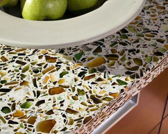 Recycled glass counter top - I like this color combo.: Colors Combos, Dreams Houses, Recycled Glasses Countertops, Houses Ideas, Houses Decor, Kitchens Countertops, Vetrazzo Countertops, Belmont Kitchens, Recycled Glass Countertops