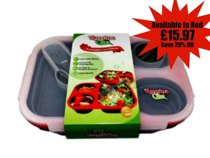 Start your day by packing delicious on the go breakfast. Packed to go in a Rossina Cibo Collapsible Lunch Box for only £15.97 (Save: 39%) http://www.amazon.co.uk/dp/B00ZVFFDEW