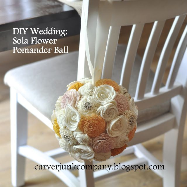 Carver Junk Company: DIY Wedding Decor: Sola Wood Flower Pomander Balls...