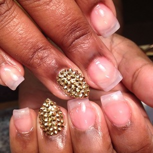 50 best she nailed it images on pinterest nail art galleries queen of nails natural with spiked stiletto instagram prinsesfo Images