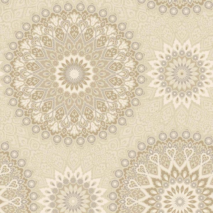 Glitter Medallion Wallpaper