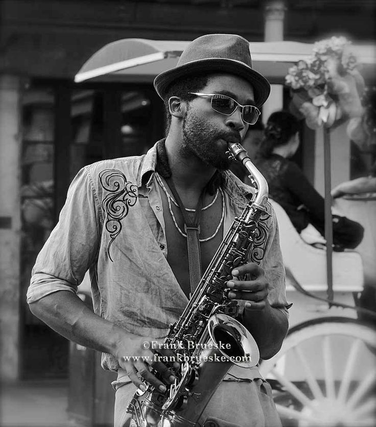 Jazz Player, New Orleans, Jackson Square, Cafe Du Monde, Music on the streets…