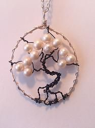 Freshwater Pearl TREE OF LIFE Necklace