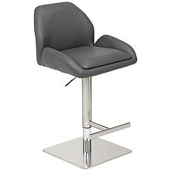 Austin Gray Faux Leather Adjustable Barstool