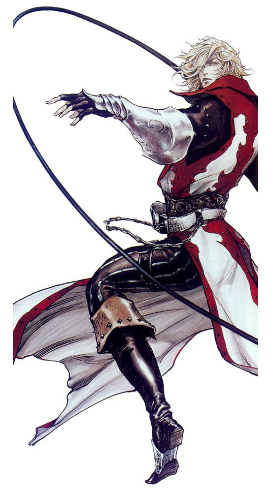Leon Belmont With Whip - Characters & Art - Castlevania: Lament of Innocence