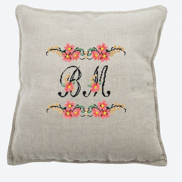Everyone loves getting flowers, and with this cross stitch pattern you can give someone delicate blooms along with customized text. Whether you opt for a simple monogramming or a sweet phrase, with the included all-caps script font, you can say it your way.